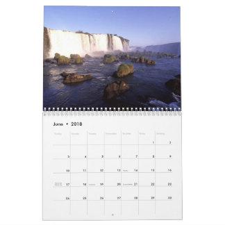 Calendário da fotografia do viagem do mundo