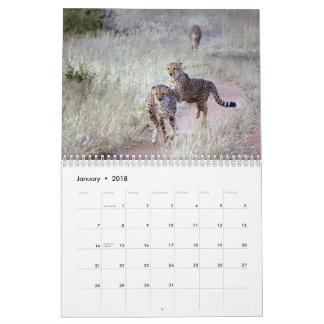 Calendário da fotografia dos animais selvagens