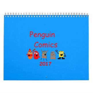 Calendário da história em quadrinhos 2017 do