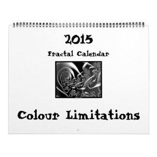 """Calendário da """"limitações do Fractal cor """""""