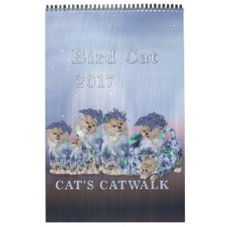 Calendário da página do gato 2017 elegantes do