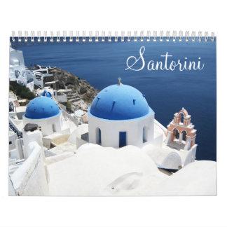 Calendário da piscina de Santorini