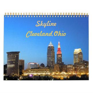 Calendário da skyline da cidade de Cleveland Ohio