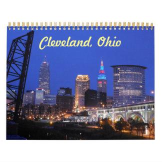 Calendário da skyline de Cleveland Ohio