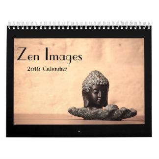Calendário das imagens 2016 do zen