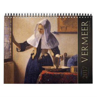 Calendário das pinturas 2017 de janeiro Vermeer