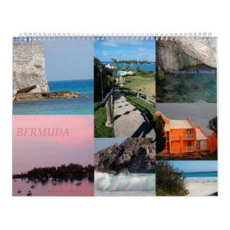 Calendário de 12 meses de Bermuda