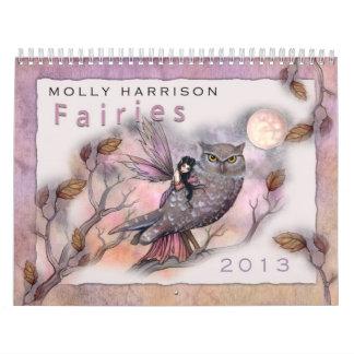 Calendário de 2013 fadas por Molly Harrison
