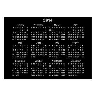 Calendário de 2014 bolsos cartão de visita grande