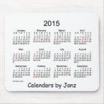 Calendário de 2015 brancos por Janz com feriados