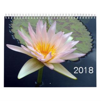 Calendário de 2018 flores