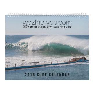 Calendário de 2018 surfs - versão dos EUA
