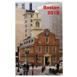 Calendário de Boston - 2018