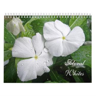 Calendário de brancos florais