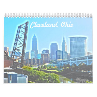 Calendário de Cleveland Ohio dos marcos