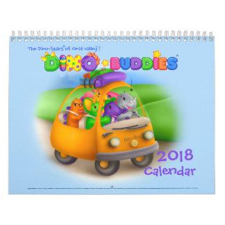 Calendário de Dino-Buddies™ 2018 - wPap™ da viagem