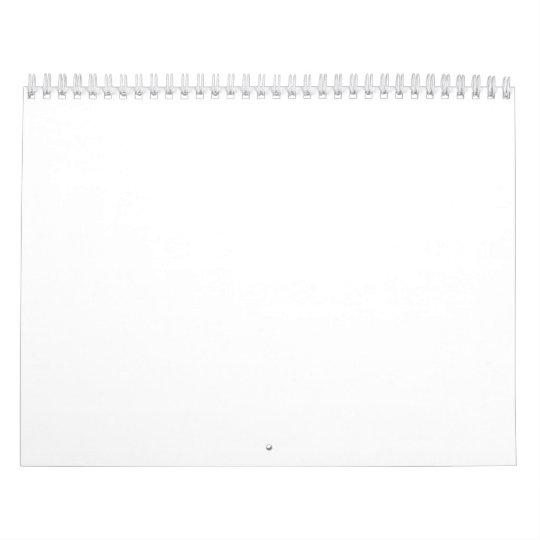Duas Páginas, Médio, Branco Calendar