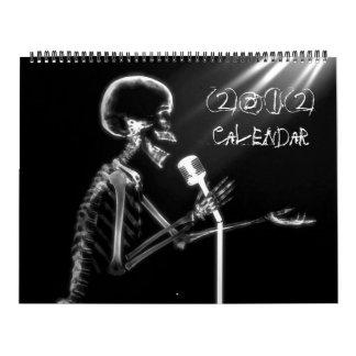 Calendário de esqueleto da coleção 2012 da visão
