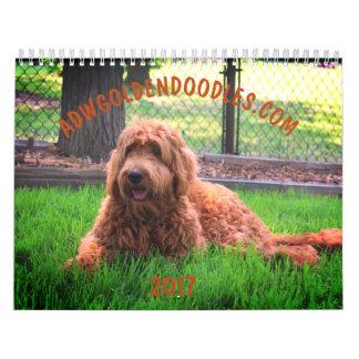 Calendário de Goldendoodle