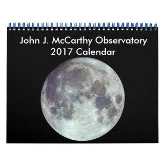 Calendário de John J. McCarthy Obervatório 2017