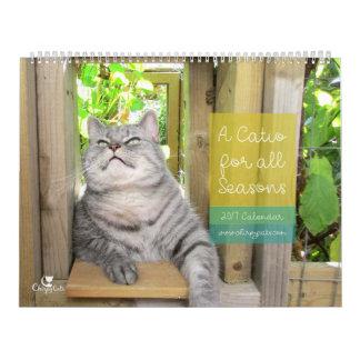 Calendário de parede 2017 do gato