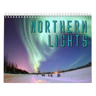 Calendário de parede da aurora boreal