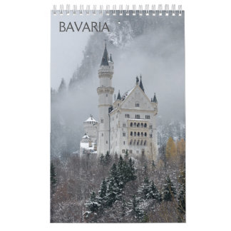 Calendário de parede de Baviera 2018