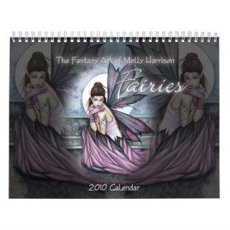 Calendário de parede Molly do calendário de 2010