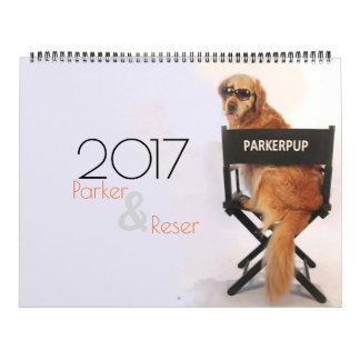 Calendário de ParkerPup 2017 & de Reser