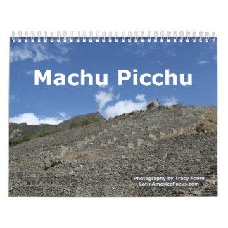 Calendário de Peru - calendário 2018 de Machu