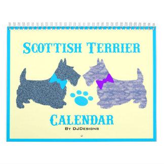 Calendário de Terrier do Scottish
