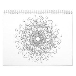 calendário desing da mandala bonita de 12 monate