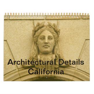 Calendário Calendário - detalhes arquitectónicos Califórnia