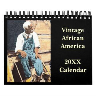 Calendário do afro-americano do vintage