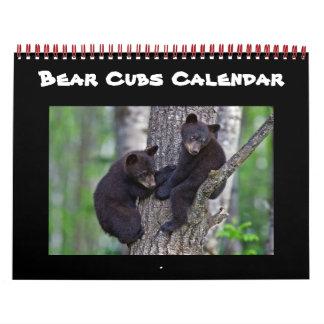 Calendário Do bebê bonito de Cubs do urso destinos Home do