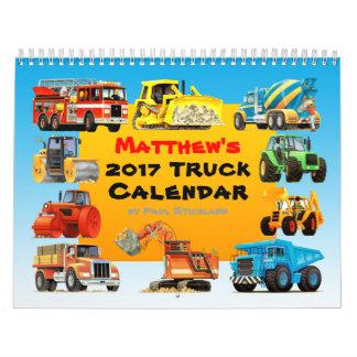 Calendário do caminhão da construção de 2017