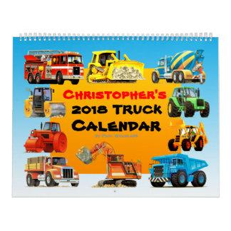 Calendário do caminhão da construção de 2018