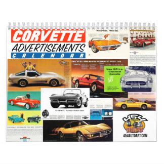 Calendário do carro da propaganda de Corveta