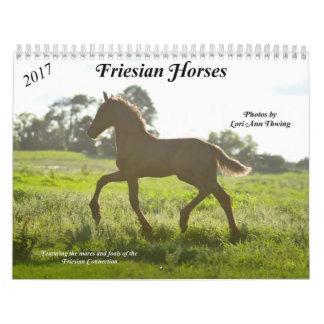 Calendário do cavalo do frisão