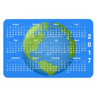 Calendário do clássico 2017 da terra ímã