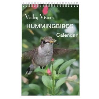 Calendário do colibri por visões do vale