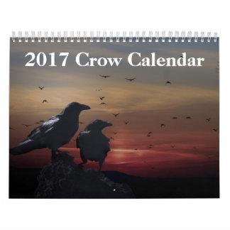Calendário do corvo de 2017 corvos