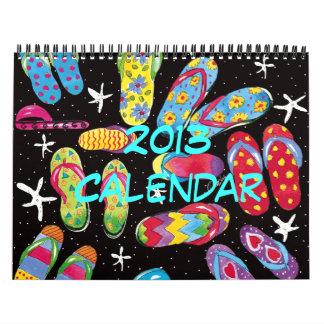Calendário do divertimento 2013 do flip-flop