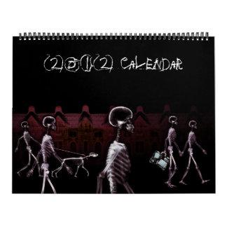 Calendário do esqueleto 2011 da visão do raio X
