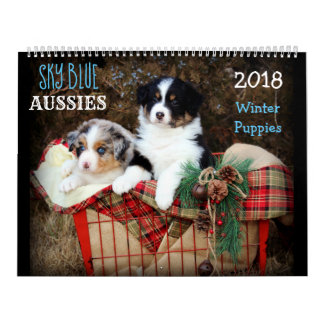 Calendário do filhote de cachorro 2018 do INVERNO