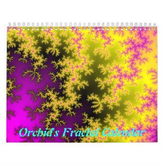 Calendário do Fractal da orquídea (2012
