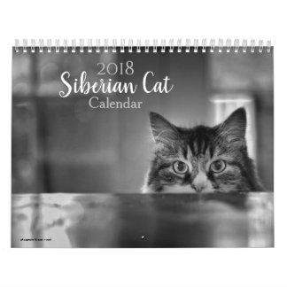 Calendário do gato de 2018 Siberian