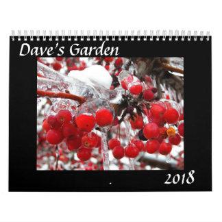 Calendário do jardim 2018 de Dave