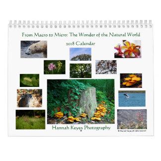 Calendário Do macro ao micro: Maravilha do mundo natural