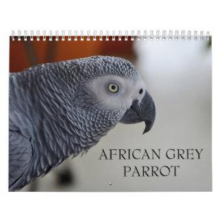 Calendário do papagaio do cinza africano de Congo